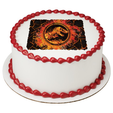 "Jurassic World 2 7.5"" Round Edible Cake Topper (Each)"