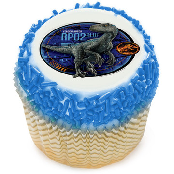 Jurassic World 2 Blue Edible Cupcake Topper (12 Images)