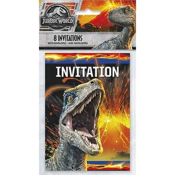 Jurassic World: Fallen Kingdom Invitations (8)