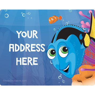 Just Keep Swimming Personalized Address Labels (Sheet of 15)