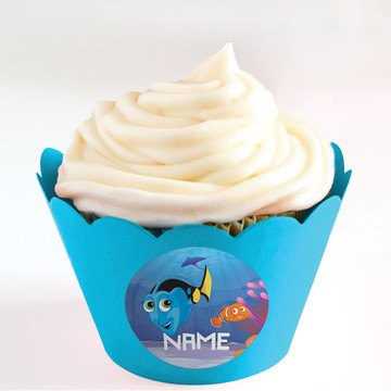Just Keep Swimming Personalized Cupcake Wrappers (Set of 24)