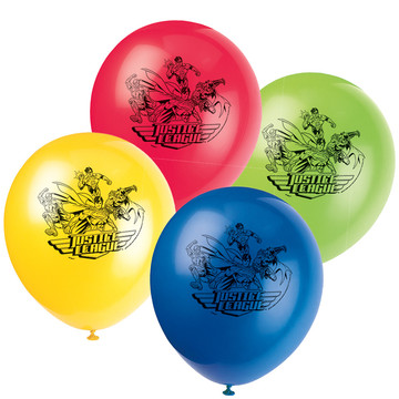 "Justice League 12"" Latex Balloons (8 Count)"