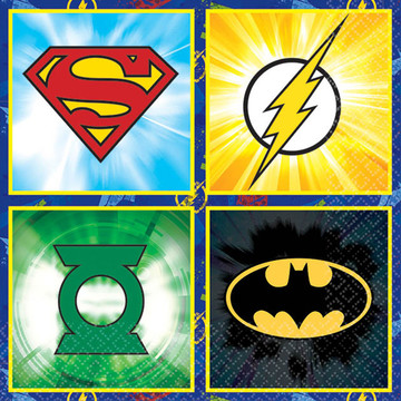 Justice League Beverage Napkins (16 Count)