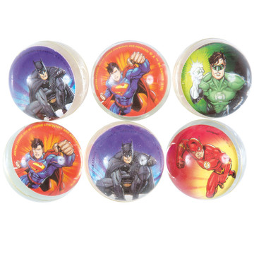 Justice League Bounce Ball Favors (6 Count)