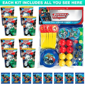 Justice League Favor Kit (For 8 Guests)