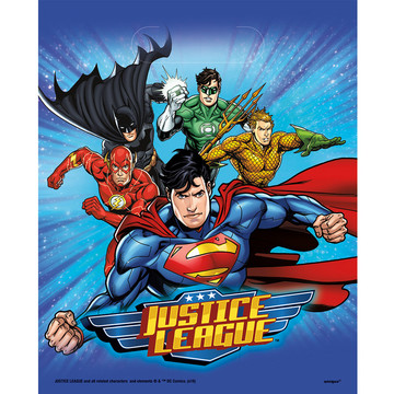 Justice League Loot Bags (8 Count)