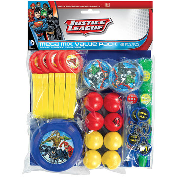 Justice League Mega Mix Favor Pack (For 8 Guests)