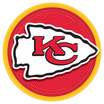 "Kansas City Chiefs 9"" Lunch Plate (8)"