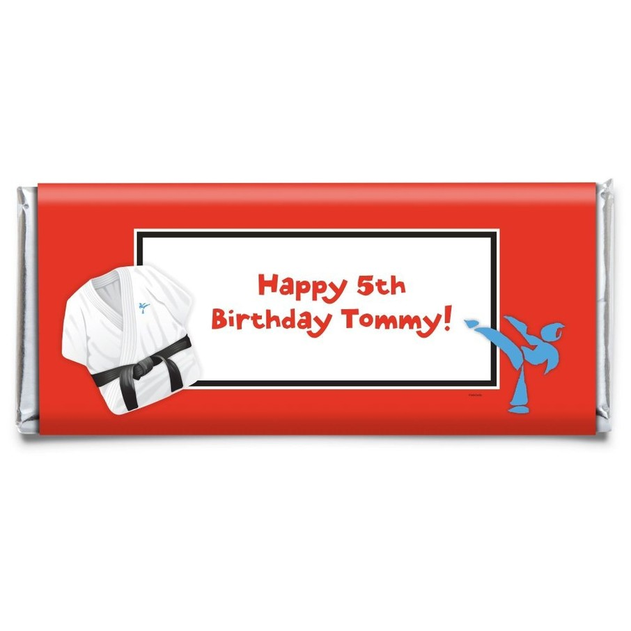 View larger image of Karate Personalized Candy Bar Wrapper (Each)