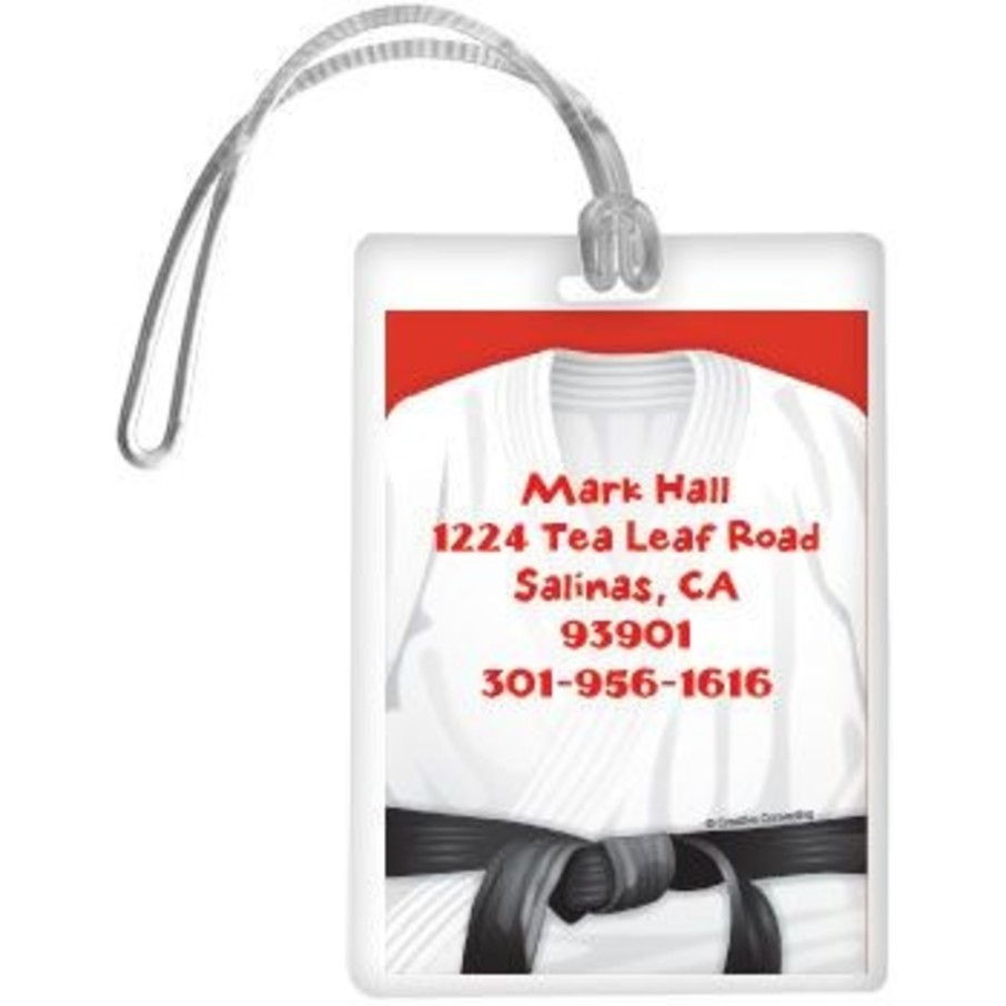 View larger image of Karate Personalized Luggage Tag (each)