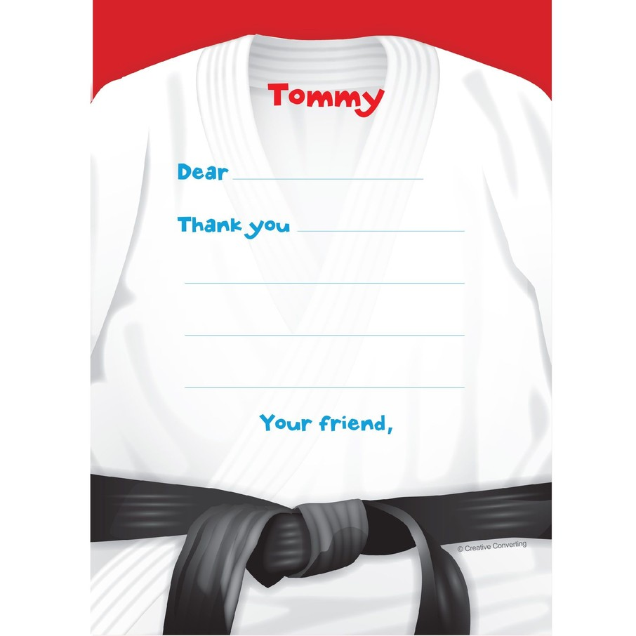 View larger image of Karate Personalized Thank You Note (each)
