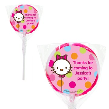 Kitty Personalized 2#34; Lollipops (20 Pack)