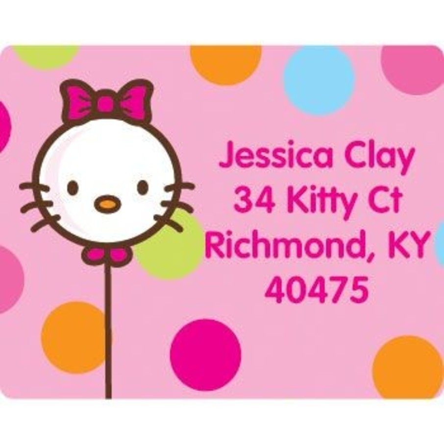 View larger image of Kitty Personalized Address Labels (sheet of 15)