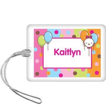 Kitty Personalized Bag Tag (each)