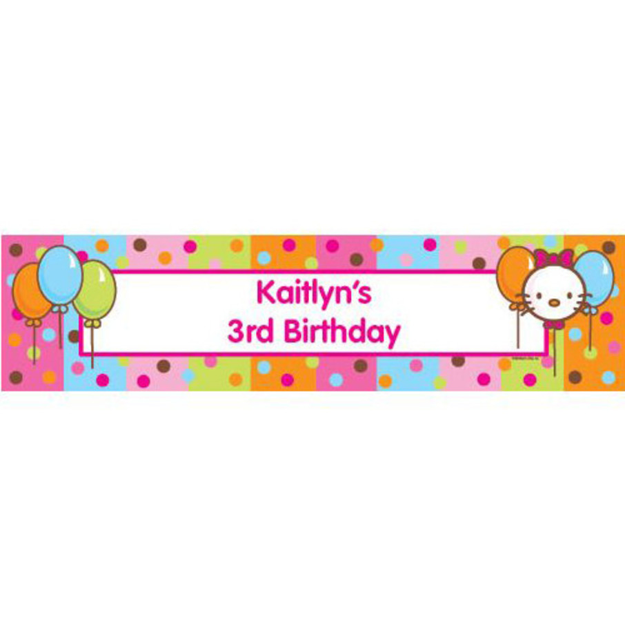 View larger image of Kitty Personalized Banner (each)