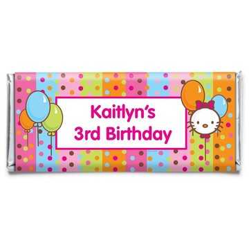 Kitty Personalized Candy Bar Wrapper (Each)