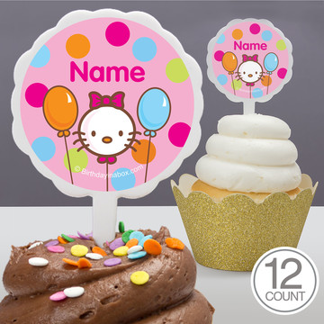 Kitty Personalized Cupcake Picks (12 Count)