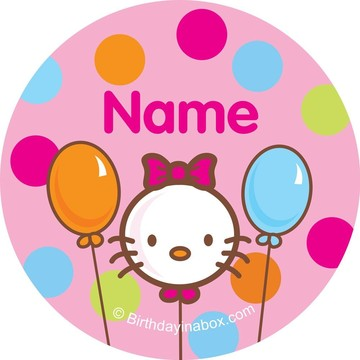 Kitty Personalized Mini Stickers (Sheet of 24)