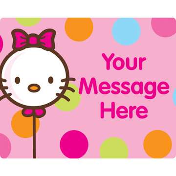 Kitty Personalized Rectangular Stickers (Sheet of 15)