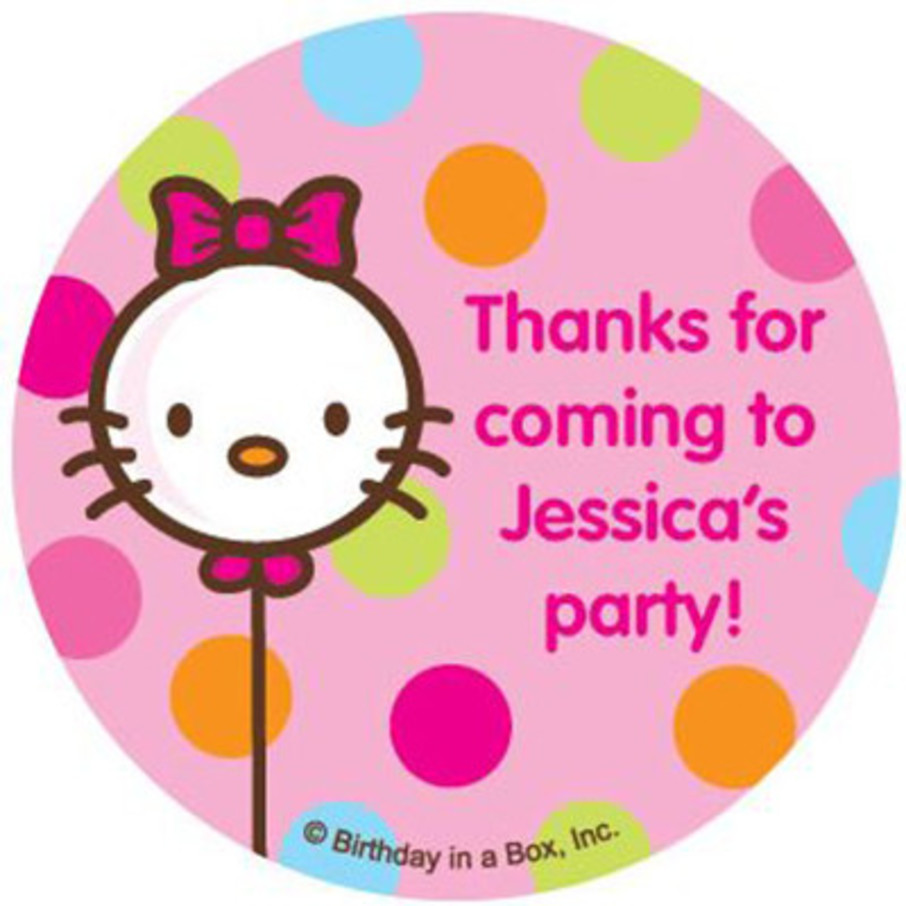 View larger image of Kitty Personalized Stickers (sheet of 12)