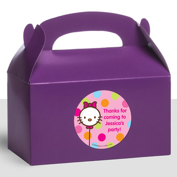 Kitty Personalized Treat Favor Boxes (12 Count)