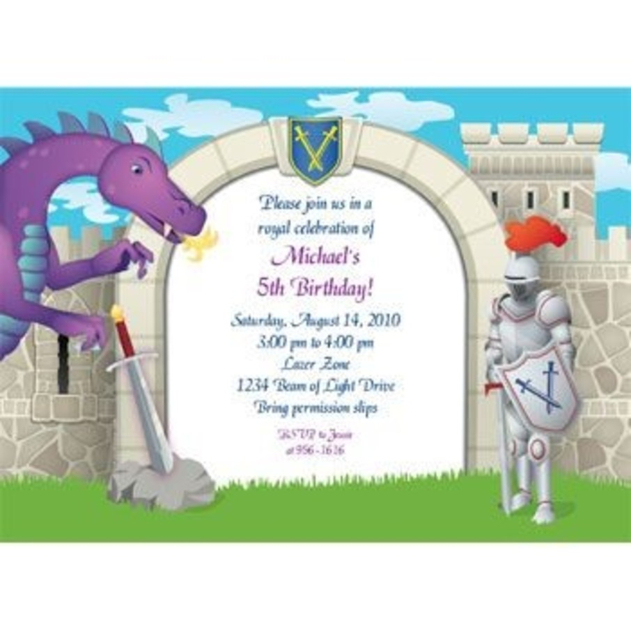 View larger image of Knight Personalized Invitation (each)