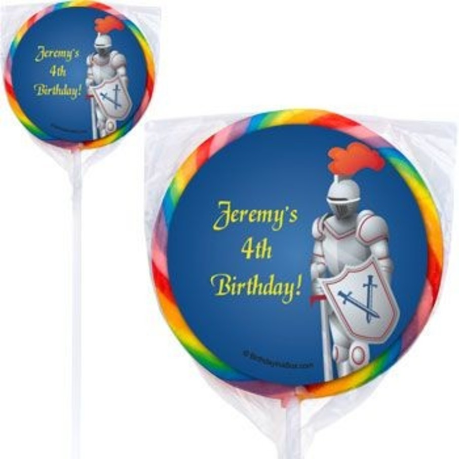 View larger image of Knight Personalized Lollipops (pack of 12)