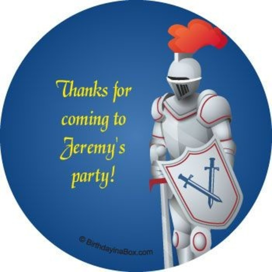 View larger image of Knight Personalized Stickers (sheet of 12)