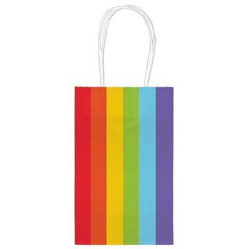 Kraft Handle Bags Rainbow (10 Pack)