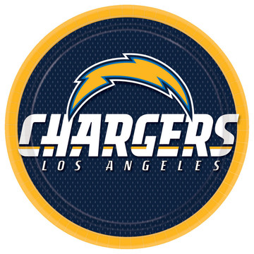 "LA Chargers 9"" Lunch Plate (8)"