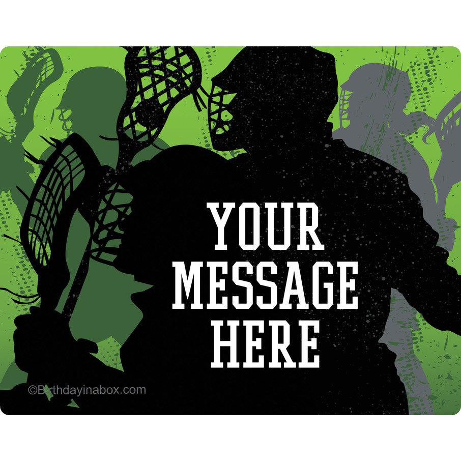 View larger image of Lacrosse Personalized Rectangular Stickers (Sheet of 15)