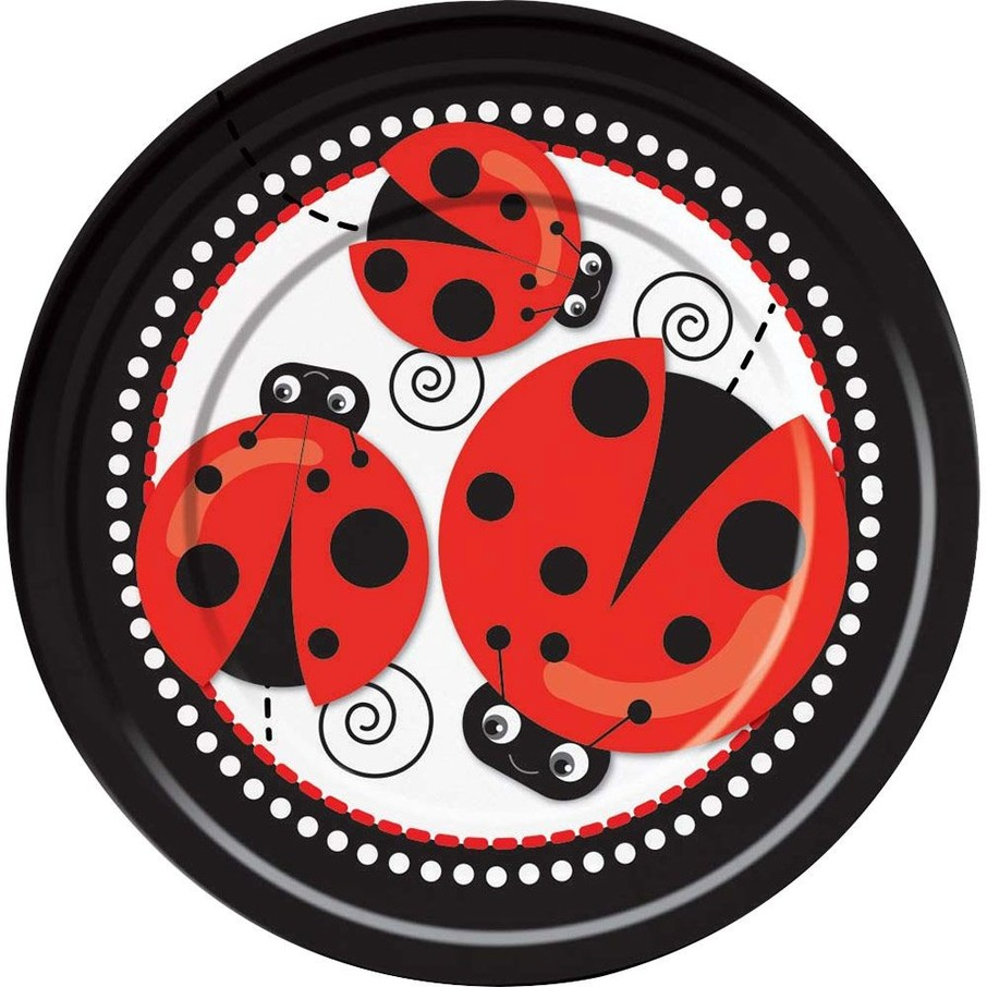 """View larger image of Ladybug 9"""" Luncheon Plates (8 Pack)"""