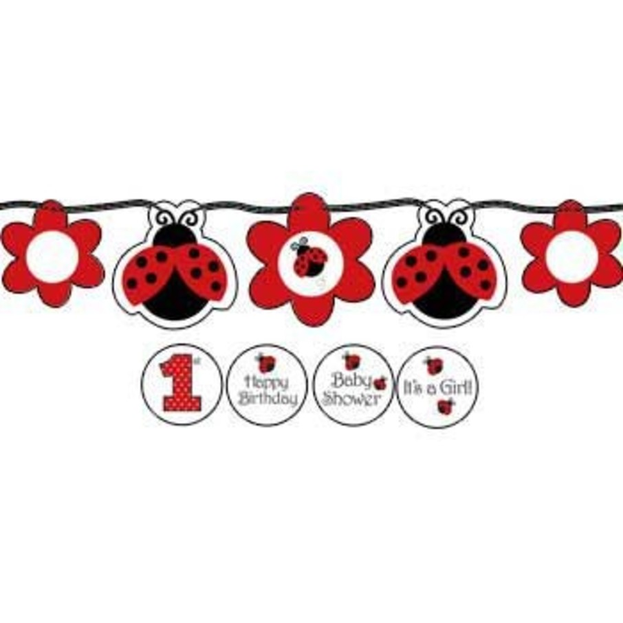 View larger image of Ladybug Party Banner (each)
