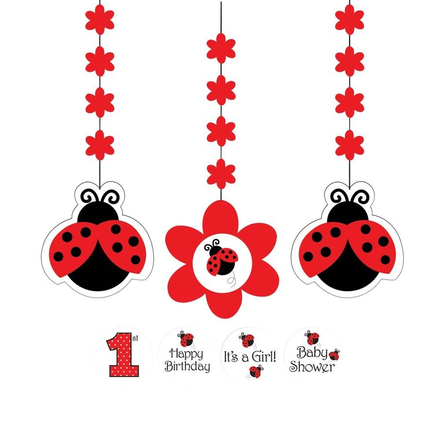 View larger image of Ladybug Party Dangling Cutout (3-pack)