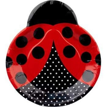 Ladybug Party Dinner Plates (8-pack)