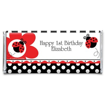 Ladybug Party Personalized Candy Bar Wrapper (Each)
