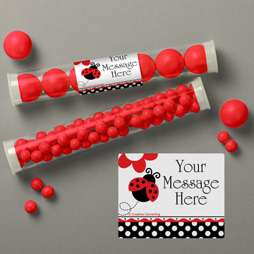 Ladybug Party Personalized Candy Tubes (12 Count)