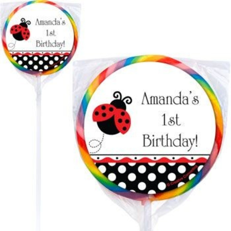 View larger image of Ladybug Party Personalized Lollipops (pack of 12)