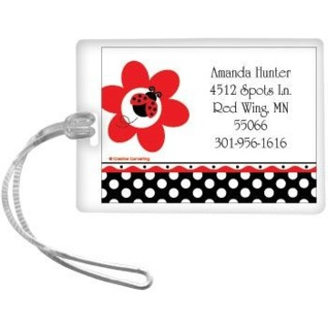 Ladybug Party Personalized Luggage Tag (each)