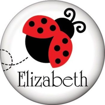 Ladybug Party Personalized Mini Magnet (each)