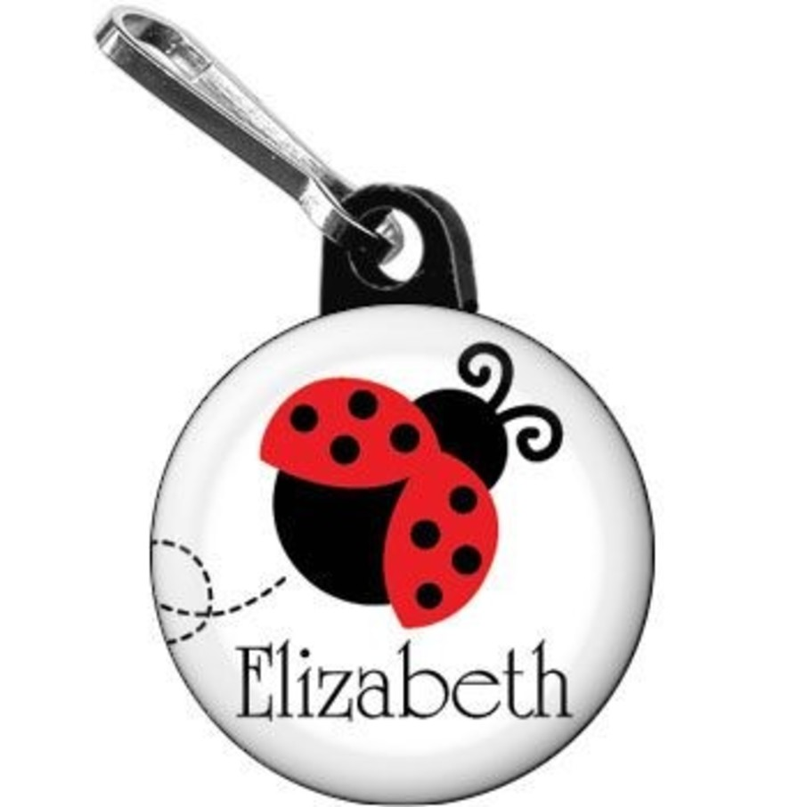 View larger image of Ladybug Party Personalized Mini Zipper Pull (each)