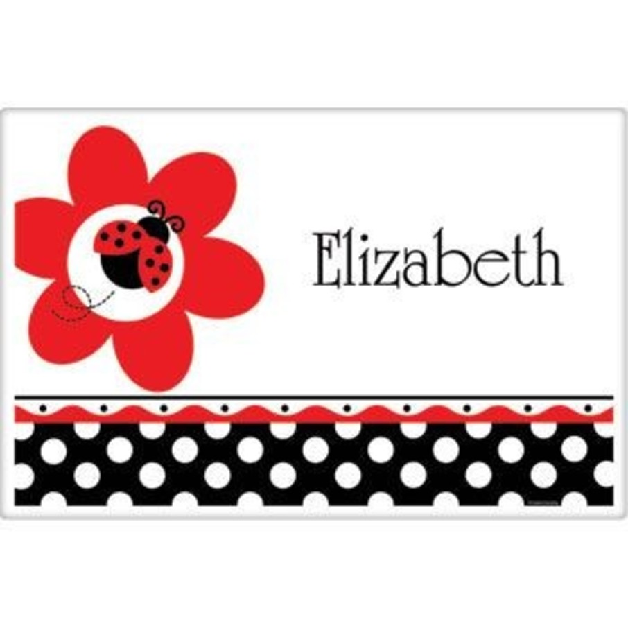 View larger image of Ladybug Party Personalized Placemat (each)
