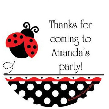 Ladybug Party Personalized Stickers (sheet of 12)