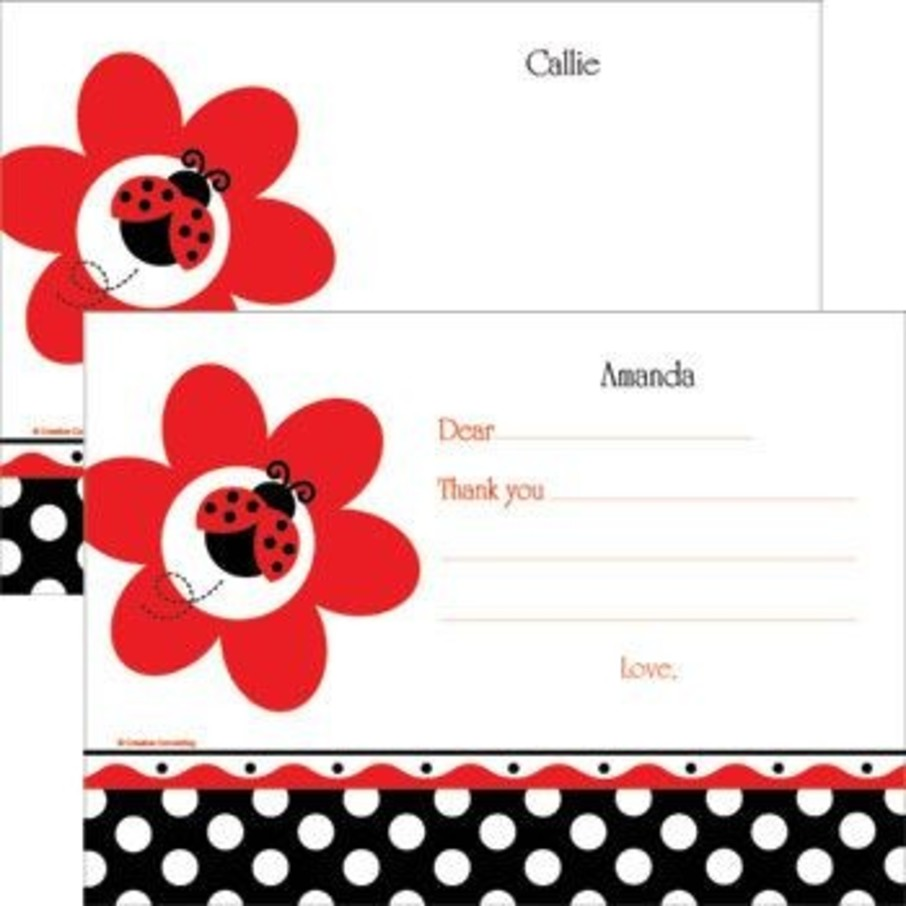 View larger image of Ladybug Party Personalized Thank You Note (each)