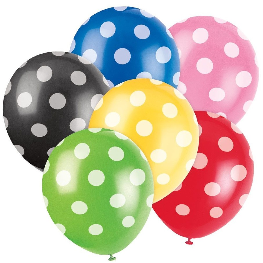 "View larger image of Latex 12"" Dots Balloons (6 Pack)"