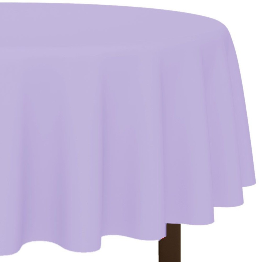 "View larger image of Lavender 84"" Round Table Cover (Each)"