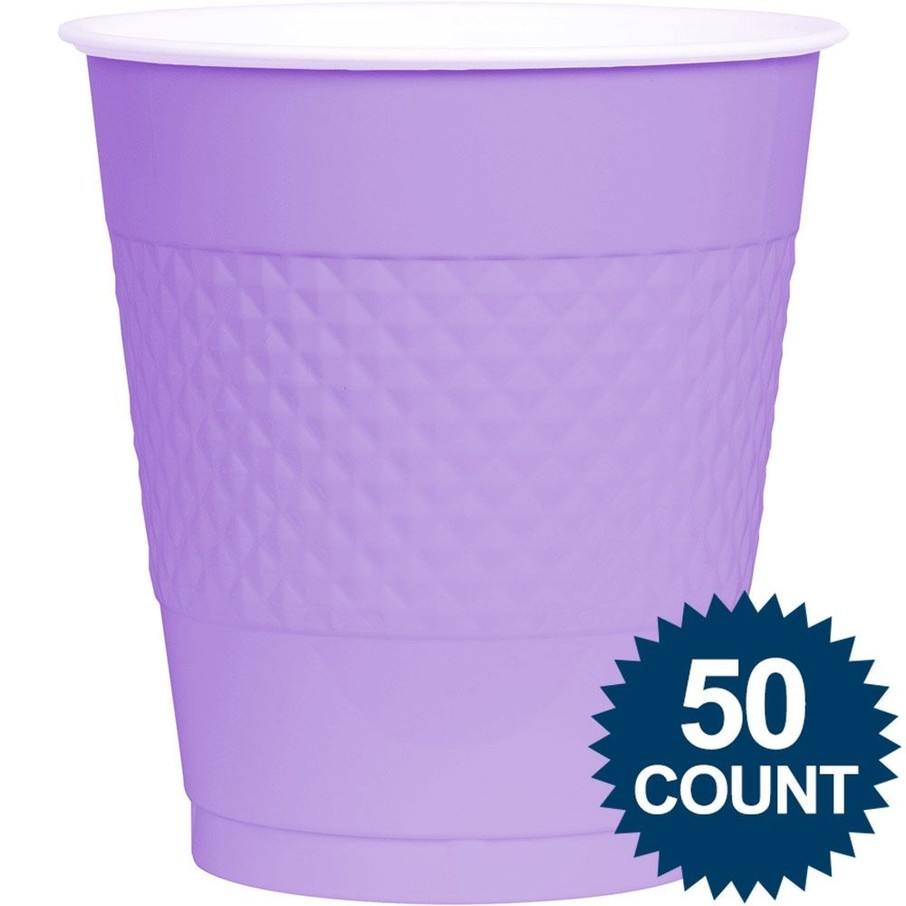 View larger image of Lavender Plastic 16oz. Cup (50 Pack)
