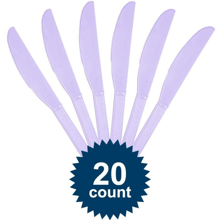View larger image of Lavender Plastic Knives
