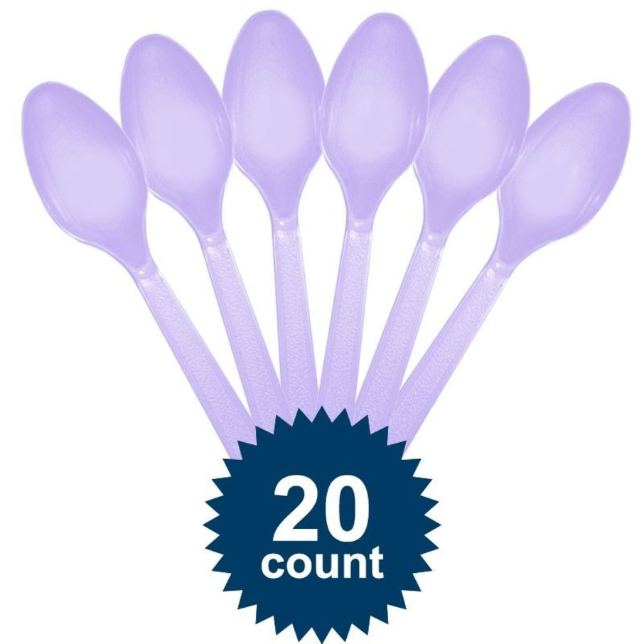 View larger image of Lavender Plastic Spoons