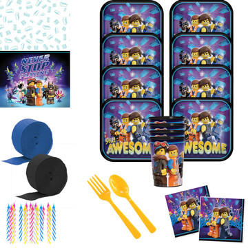 Lego Movie 2 Deluxe Tableware Kit with Favor Cup (Serves 8)
